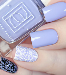 Painted Polish - April Showers Collection - Stamped in Periwinkle