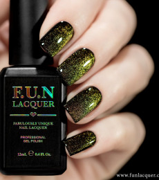 F.U.N Lacquer - 2021 Spring/Summer Collection - Gold Platinum Diamond Magnetic GEL Nailpolish