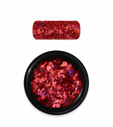 Moyra Holo glitter mix No. 11, Red