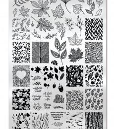 Uberchic Nailart -  Single Stamping Plates - Lovely Leaves-06