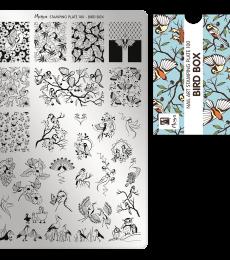 Moyra Big Stamping Plate 100 Bird Box
