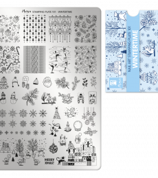 Moyra Big Stamping Plate 101 Wintertime
