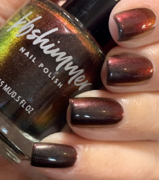 KBShimmer- The Love At Frost Sight Collection- Obsidian Multichrome Nail Polish