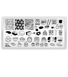Uberchic Nailart -  Mini Plate- Fluid Movement - Sushi For Me