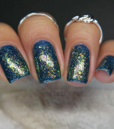 Wildflower Lacquer - Happy Little Polishes Collection-We Don't Make Mistakes We Make Happy Accidents holo flakes.